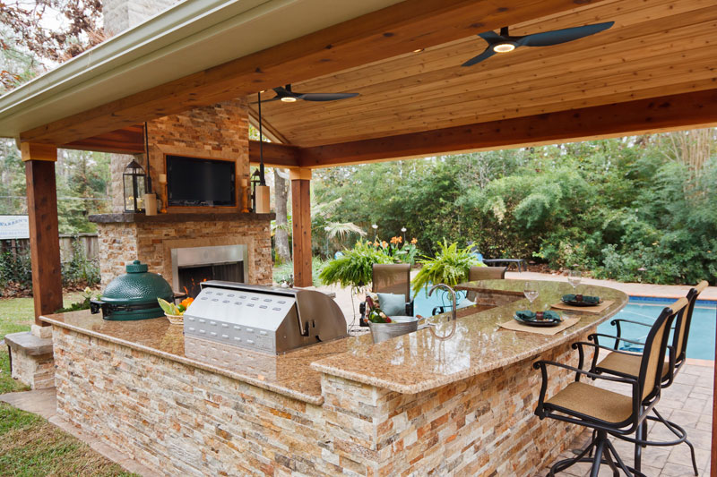 Featured Landscaping Pictures | Outdoor Getaway | Kingwood TX on Warrens Outdoor Living id=22759