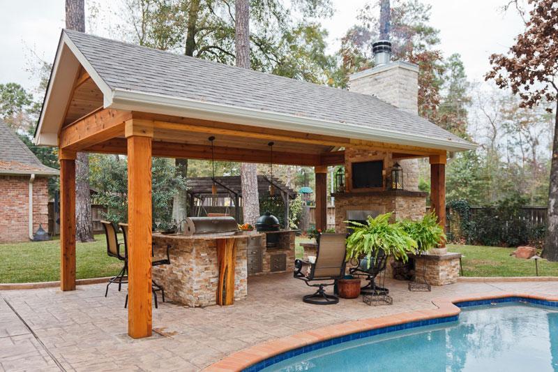 Featured Landscaping Pictures | Outdoor Getaway | Kingwood TX on Warrens Outdoor Living id=85442