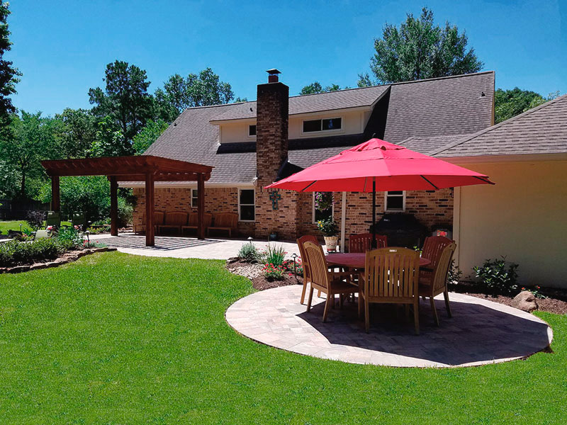 Featured Landscaping Pictures Backyard Retreat Kingwood Tx